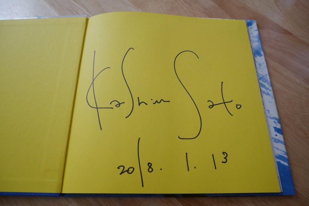 佐藤可士和さんのサイン